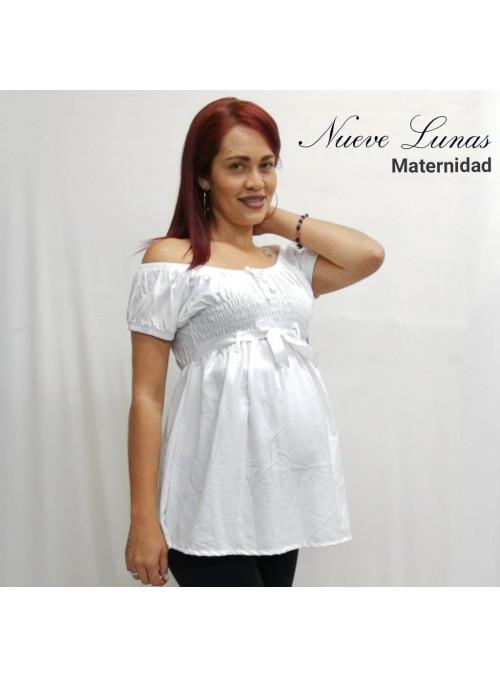Blusa respetada en cintura con cinta decorativa